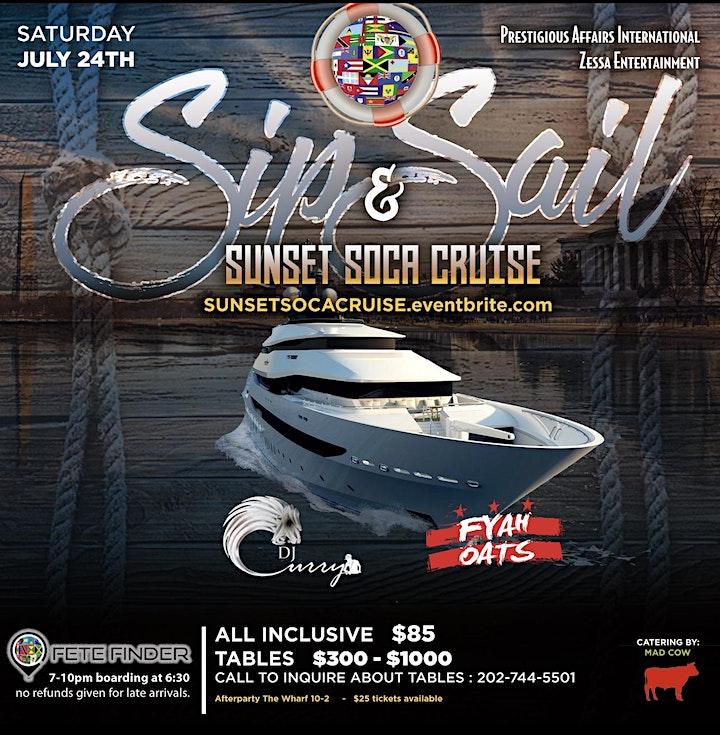 Sip & Sail Sunset Soca Cruise image