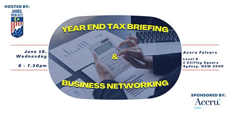 AMBC-Accru Felsers Year End Tax Briefing and Business Networking tickets