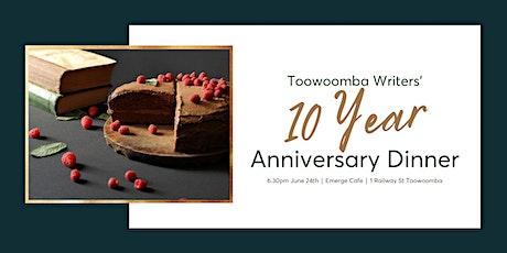 Toowoomba Writers - 10 Year Anniversary Dinner tickets