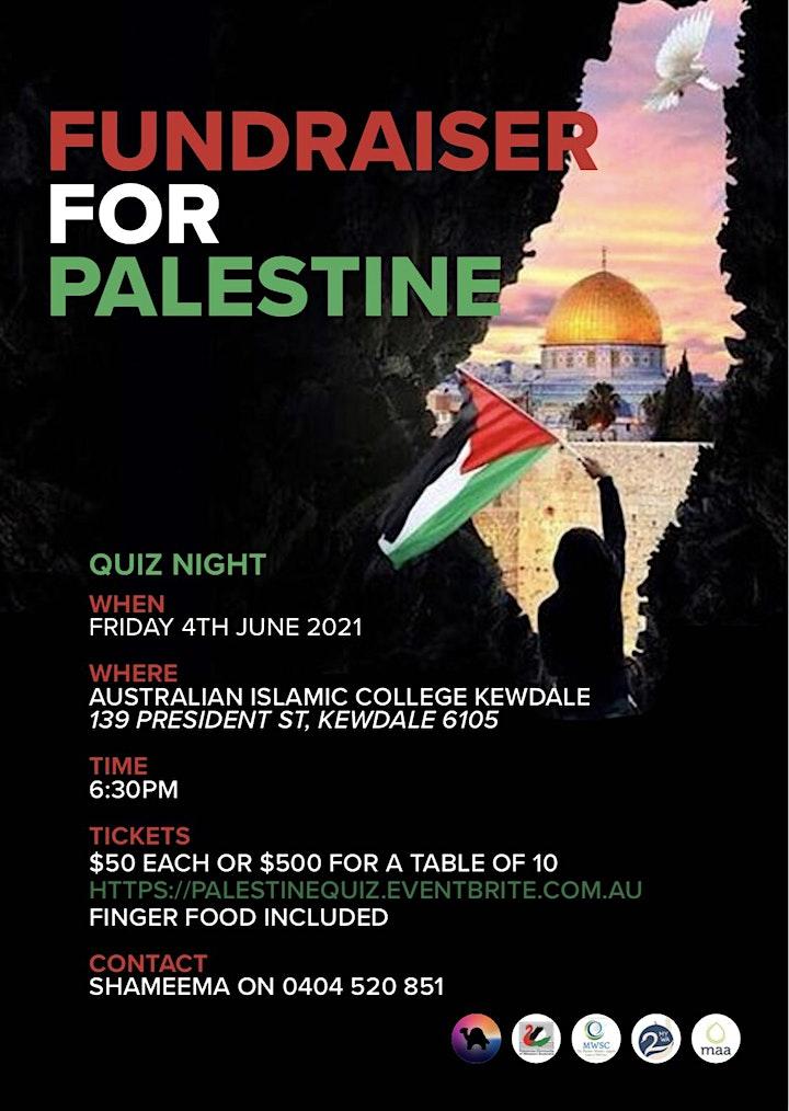 Quiz Fundraiser for Palestine image