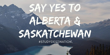 Study in CANADA: Destination Series 2021 Featuring  ALBERTA & SASKATCHEWAN tickets