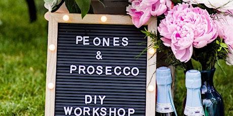 DIY floral workshop: Peonies & Prosecco tickets