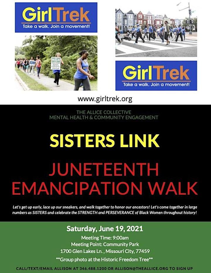 Sisters Link Juneteenth Emancipation Walk image