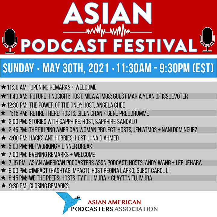 ASIAN PODCAST FESTIVAL --- by the Asian American Podcasters Association image