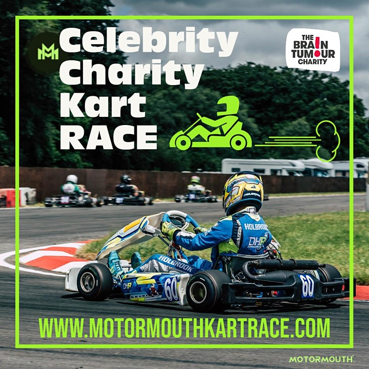 Your team of 4 + celeb driver. The MotorMouth Celebrity Charity Kart Race image