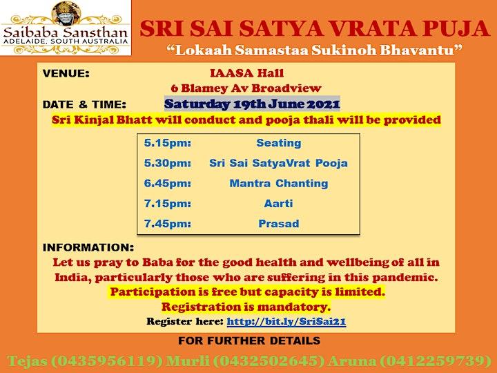 Sri Sai Satyavrat Pooja for Covid Relief image