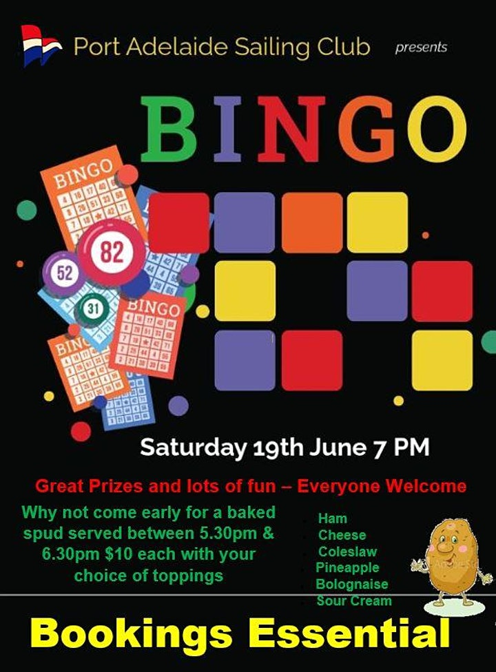 PASC Bingo and Baked Spuds image