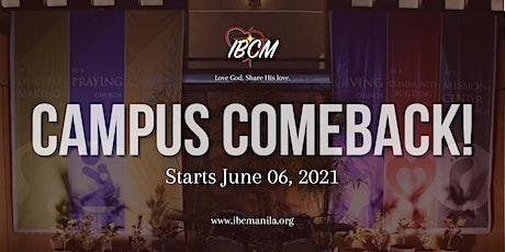 IBC Manila: Worship Service (Campus Comeback) tickets