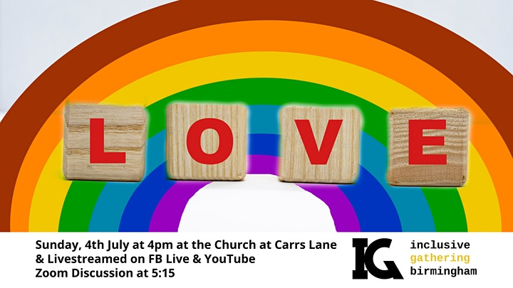 July 'In-Person' Inclusive Gathering at The Church at Carrs Lane image