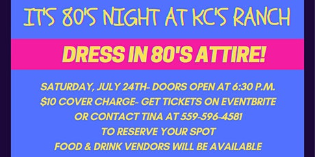 80's Night at KC's Ranch tickets