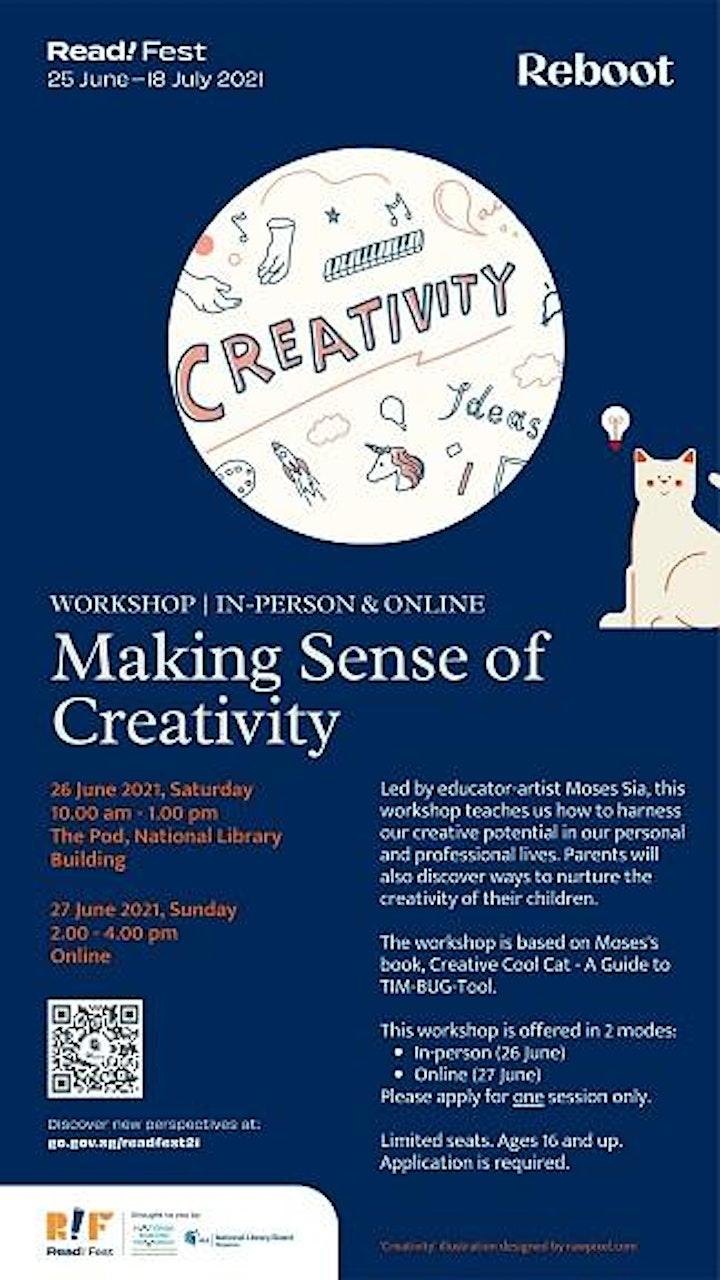 Making Sense of Creativity: In-Person Workshop | Read! Fest image