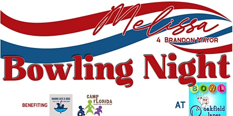 Bowling Night to benefit Melissa 4 Honorary Mayor of Brandon tickets