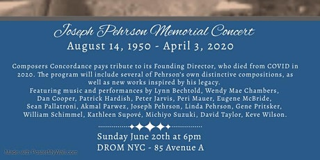 Composers Concordance  presents  –  Joseph Pehrson Memorial Concert tickets