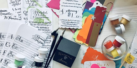 NEW Virtual Modern Calligraphy Class for Beginners including at-home kit tickets