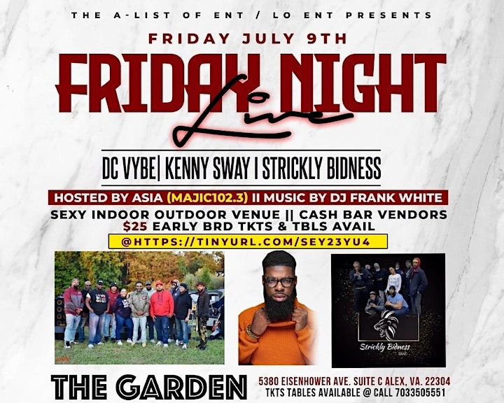 Friday Night Live Feat... DCVybe, Kenny Sway,  Strickly Bidness Band image