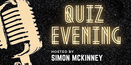 QUIZ EVENING  with Simon McKinney tickets