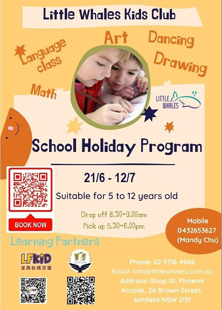 Little Whales School Holiday Program image