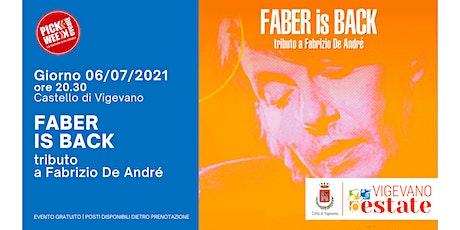 Faber is back biglietti