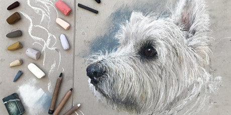 Zoom Drawing Class with Rebecca de Mendonça. Class 12 Sketch of a white dog tickets