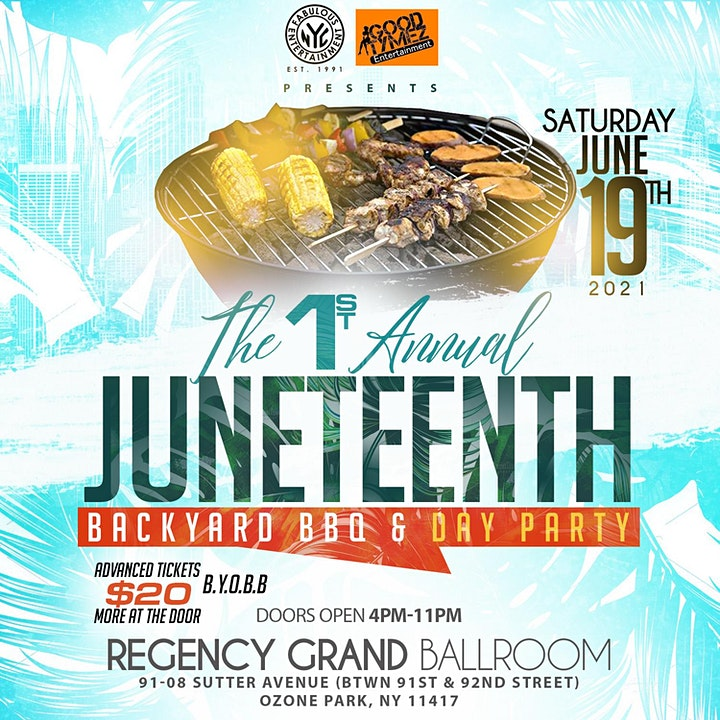 1st Annual JUNETEENTH Backyard BBQ & Day Party Saturday June 19th 4pm-11pm image