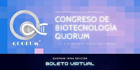Quorum10: International Biotechnology congress boletos