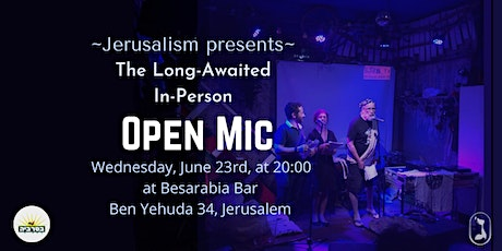In-Person OPEN MIC tickets