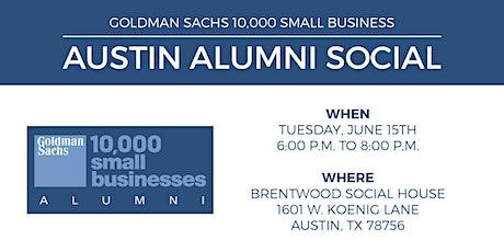 Goldman Sachs 10,000 Small Business Austin Alumni Social tickets