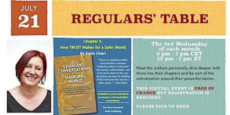 Regulars' Table 9: Karin Ovari on Changing Conversations tickets