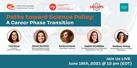 Paths Towards Science Policy: A Career Phase Transition entradas