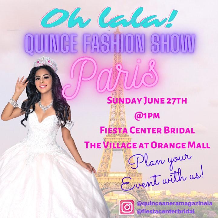 Oh la la Paris!   Quinceanera Fashion Show Paris theme image