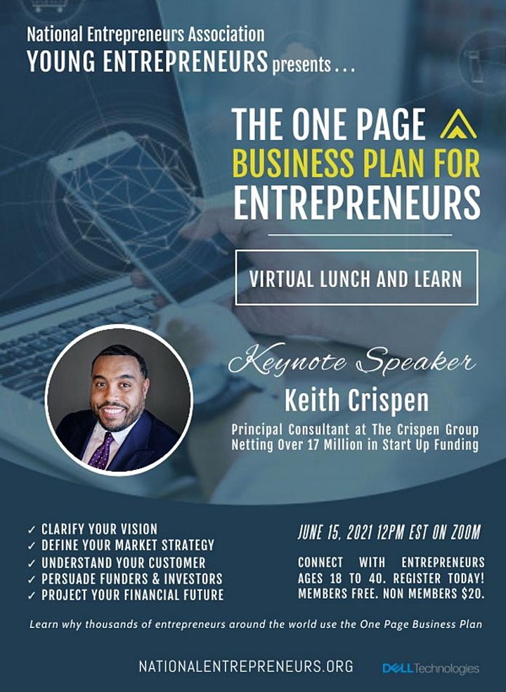 The One Page Business Plan image