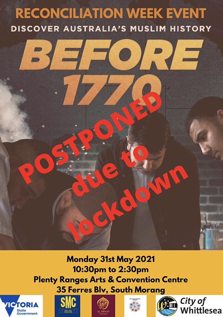 POSTPONED!! Reconciliation Week Event & BEFORE 1770 Screening at PRACC image