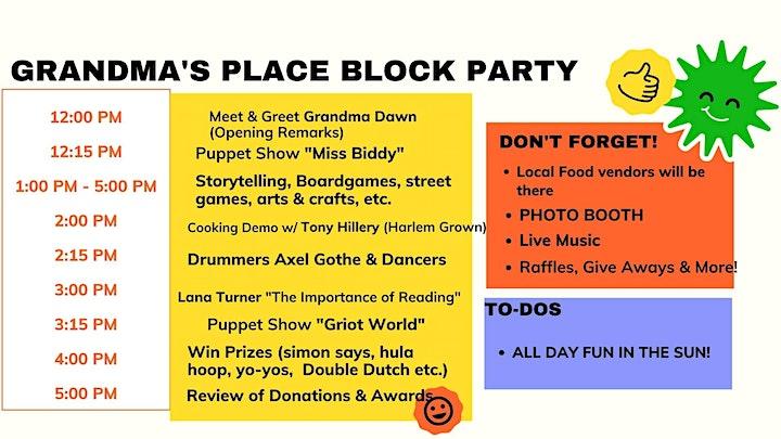 Grandma's Place Block Party image