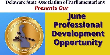 DSAP June Professional Development Opportunity tickets