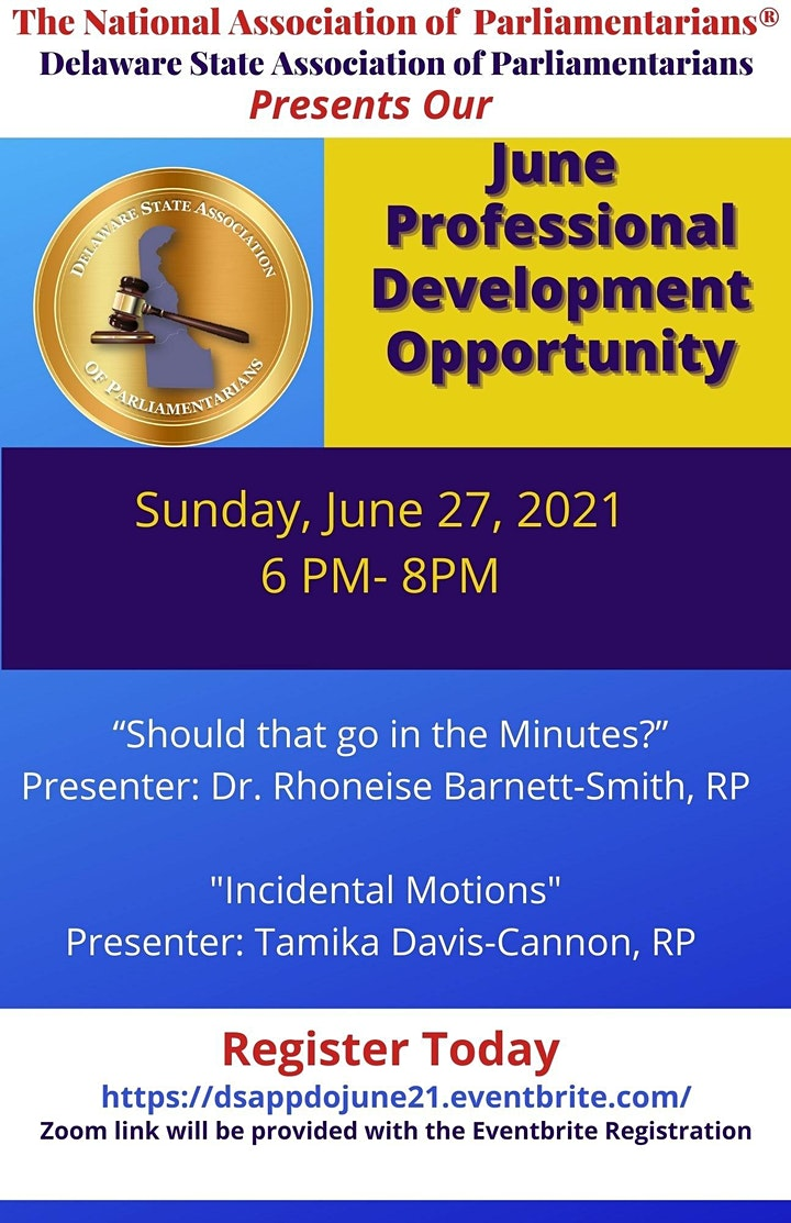 DSAP June Professional Development Opportunity image