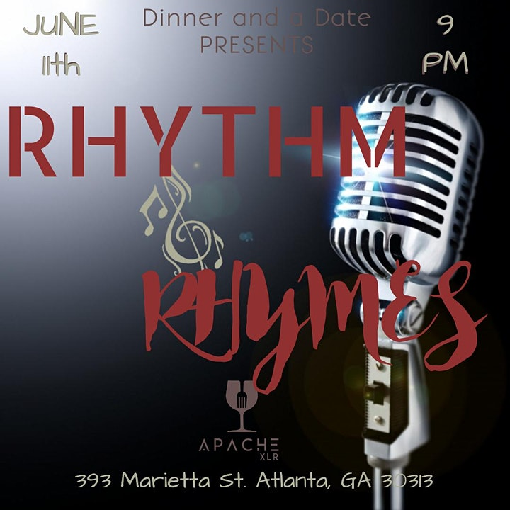 Dinner and a Date PRESENTS: RHYTHM &  RHYMES image