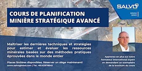 Cours de Planification Minière Stratégique Avancé billets