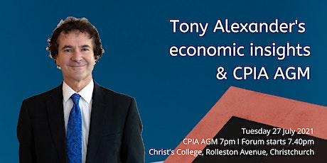 Tony Alexander's Economic Insights & CPIA AGM tickets