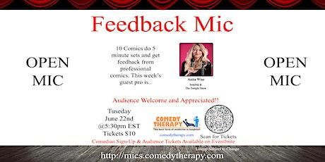 Feedback Open Mic - Anita Wise - June 22nd tickets
