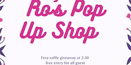 Ro's pop up shop tickets