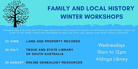 Family and Local History Winter Workshops - Online Genealogy Resources tickets