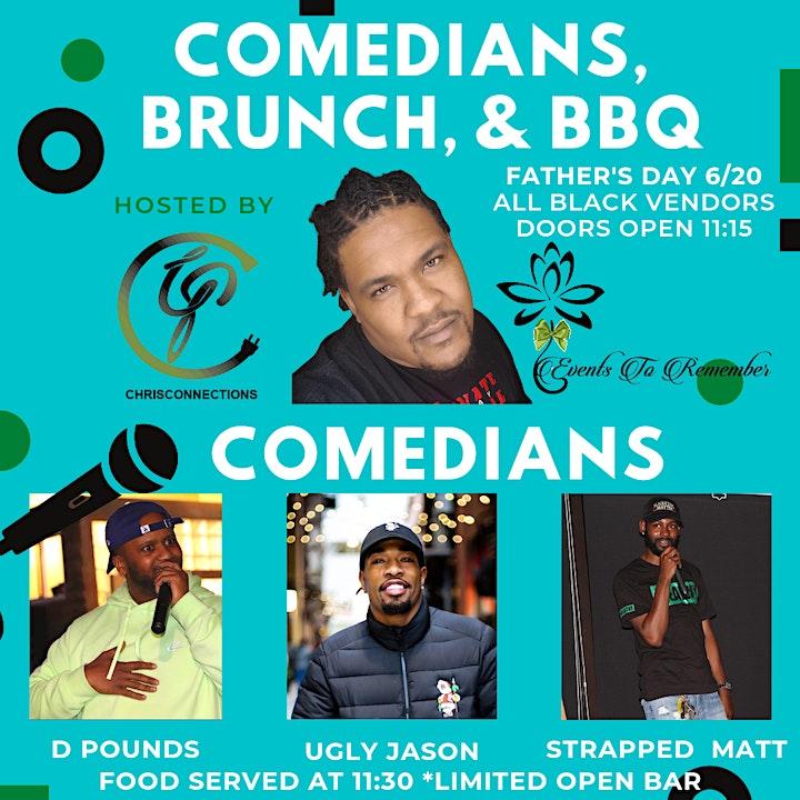 Comedians, Brunch, & BBQ image