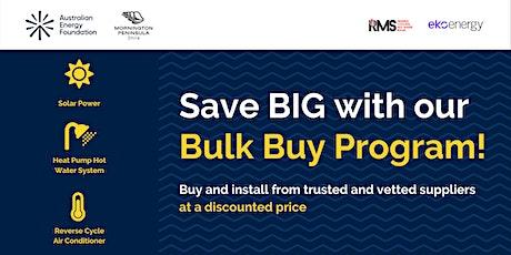 Bulk Buy Program Launch - Webinar - Mornington Peninsula Shire tickets