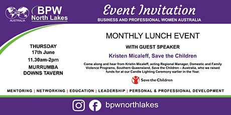 BPW North Lakes June Lunch with Save the Children Speaker Kristin Micaleff tickets
