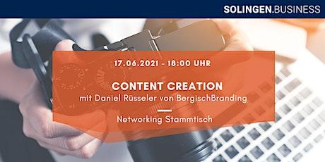 Networking Stammtisch - Content Creation Tickets