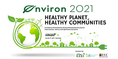 Environ 2021 Public Session Panel - Healthy Planet, Healthy Communities tickets