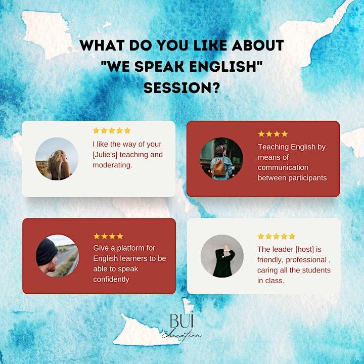 We speak English! - English speaking group on Sunday (LONG SESSION) image