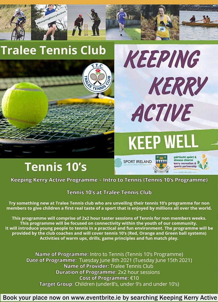 Keeping Kerry Active - Tennis Tens (Intro to Tennis for Kids) image