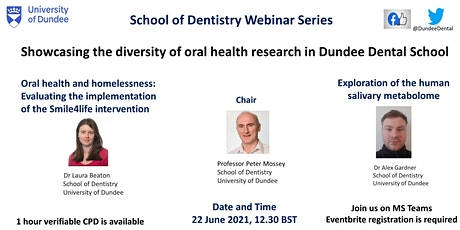 Showcasing the diversity of oral health research in Dundee Dental School tickets