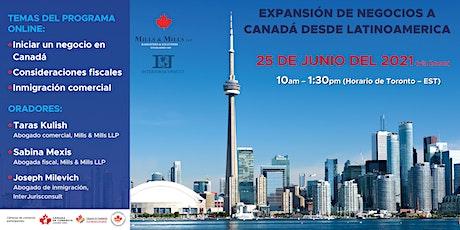 Expansión de Negocios a Canadá (Expanding Business to Canada) tickets